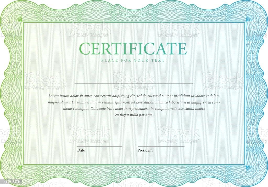 Vintage Certificate Template Diplomas Currency Stock Vector Art