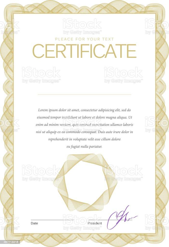 Vintage certificado. Plantilla de diplomas, moneda. - ilustración de arte vectorial