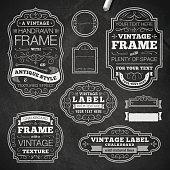Vintage chalk frames