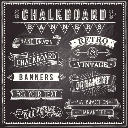 Vintage Chalkboard Banners