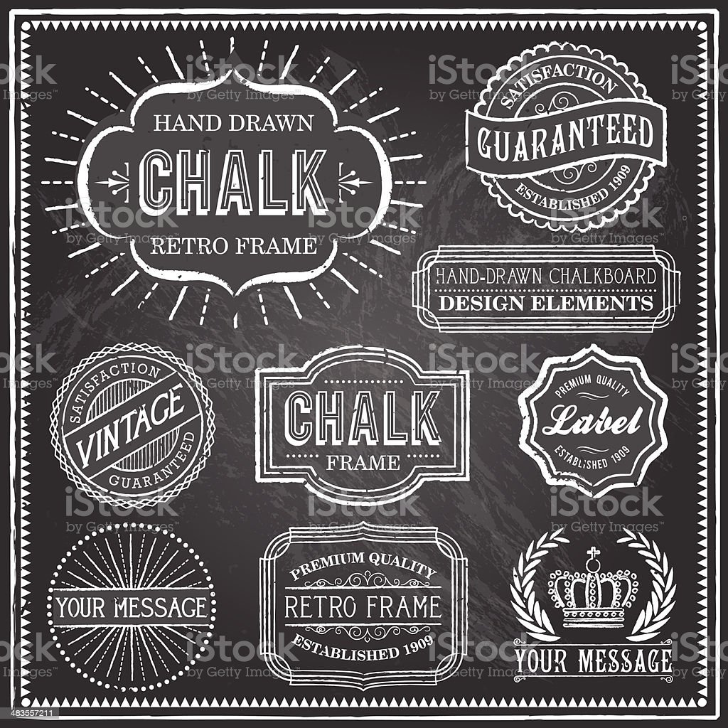 Vintage Chalkboard Frames royalty-free vintage chalkboard frames stock vector art & more images of announcement message