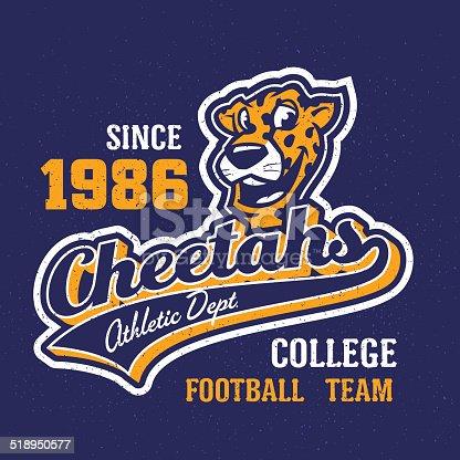 Vintage cheetahs apparel design