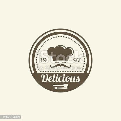 istock Vintage Chef badges or label Illustration. 1207264924