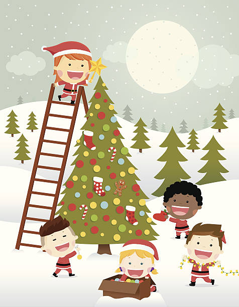 Best Decorating The Christmas Tree Illustrations, Royalty ...