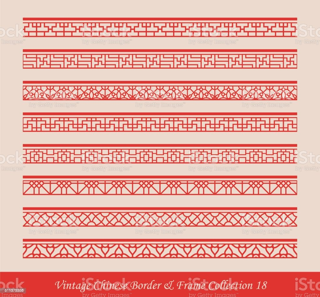 Vintage chinese border frame vector collection 18 stock vector art vintage chinese border frame vector collection 18 royalty free vintage chinese border frame vector collection jeuxipadfo Image collections