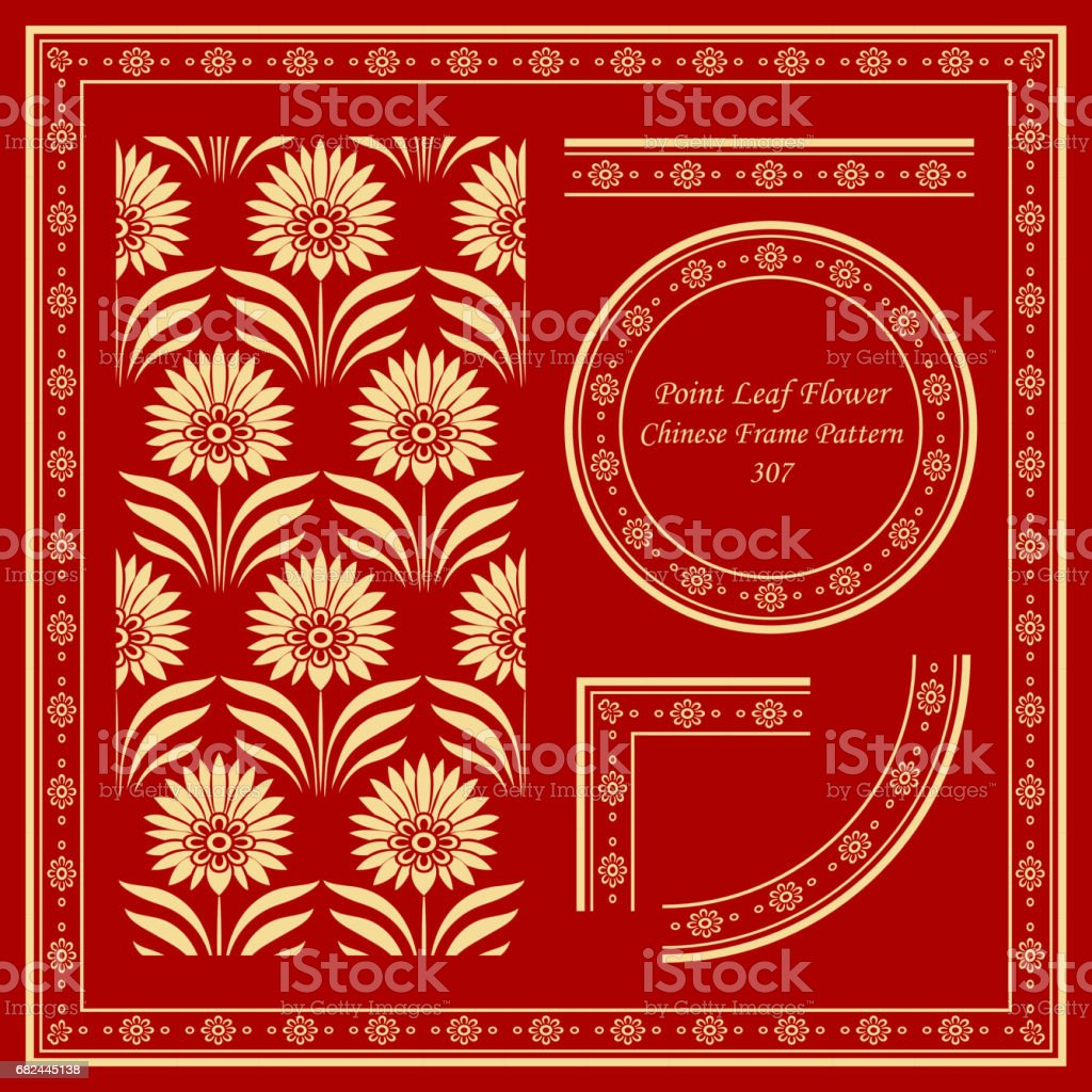 Vintage Chinese Frame Pattern Set botanic garden point leaf flower royalty-free vintage chinese frame pattern set botanic garden point leaf flower stock vector art & more images of ancient
