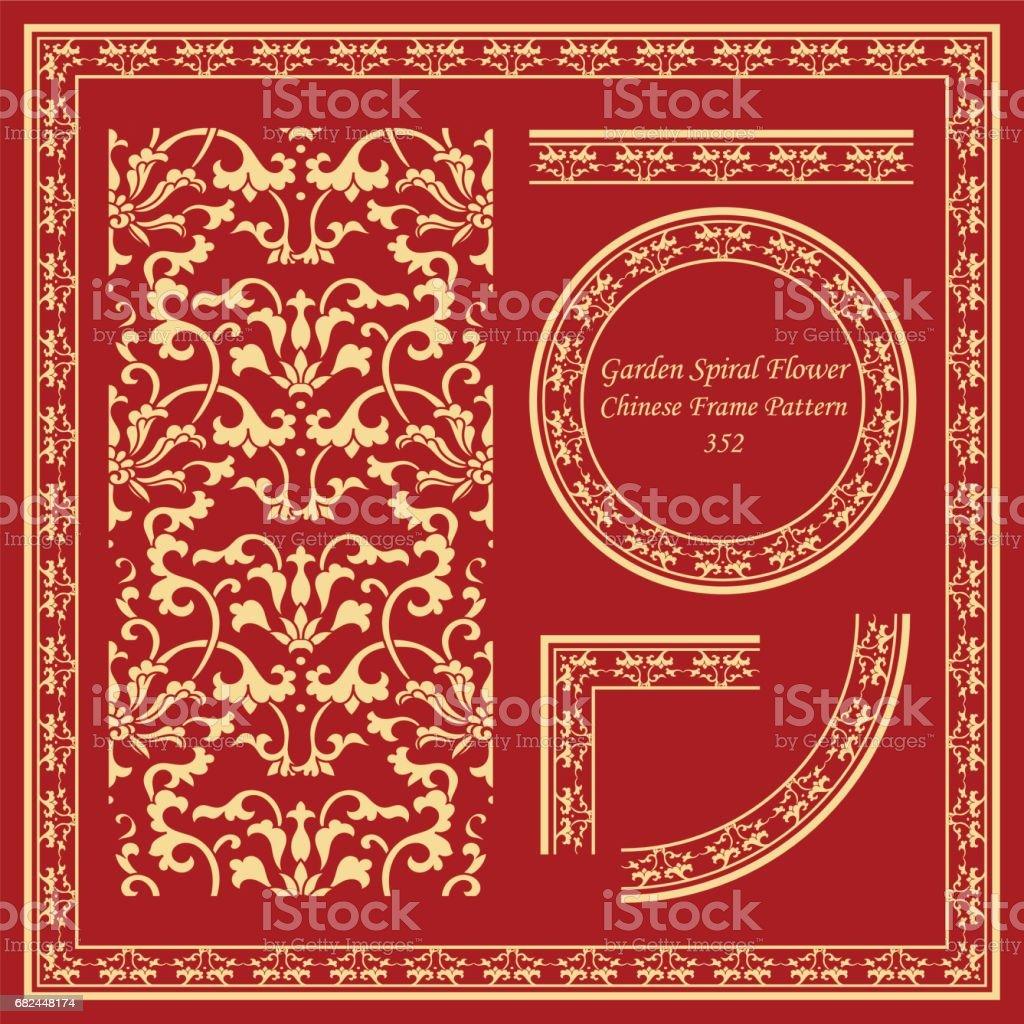 Vintage Chinese Frame Pattern Set botanic garden spiral vine flower leaf royalty-free vintage chinese frame pattern set botanic garden spiral vine flower leaf stock vector art & more images of ancient