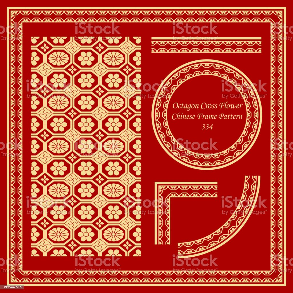 Vintage Chinese Frame Pattern Set octagon check cross flower royalty-free vintage chinese frame pattern set octagon check cross flower stock vector art & more images of ancient