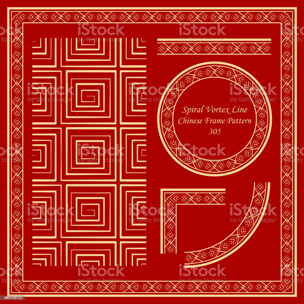 Vintage Chinese Frame Pattern Set spiral square vortex geometry cross line royalty-free vintage chinese frame pattern set spiral square vortex geometry cross line stock vector art & more images of ancient