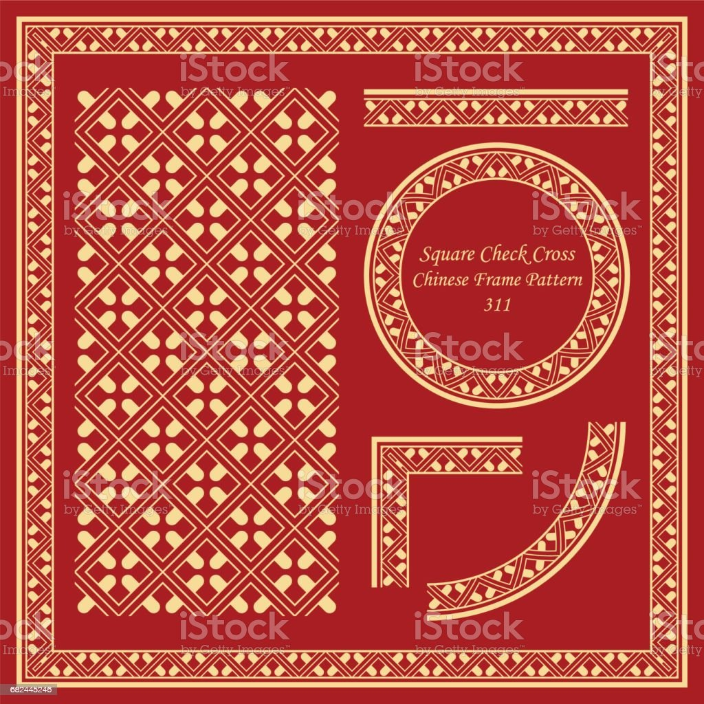 Vintage Chinese Frame Pattern Set square check cross geometry frame royalty-free vintage chinese frame pattern set square check cross geometry frame stock vector art & more images of ancient