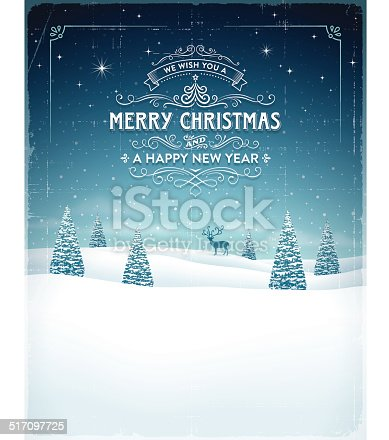istock Vintage Christmas Background 517097725