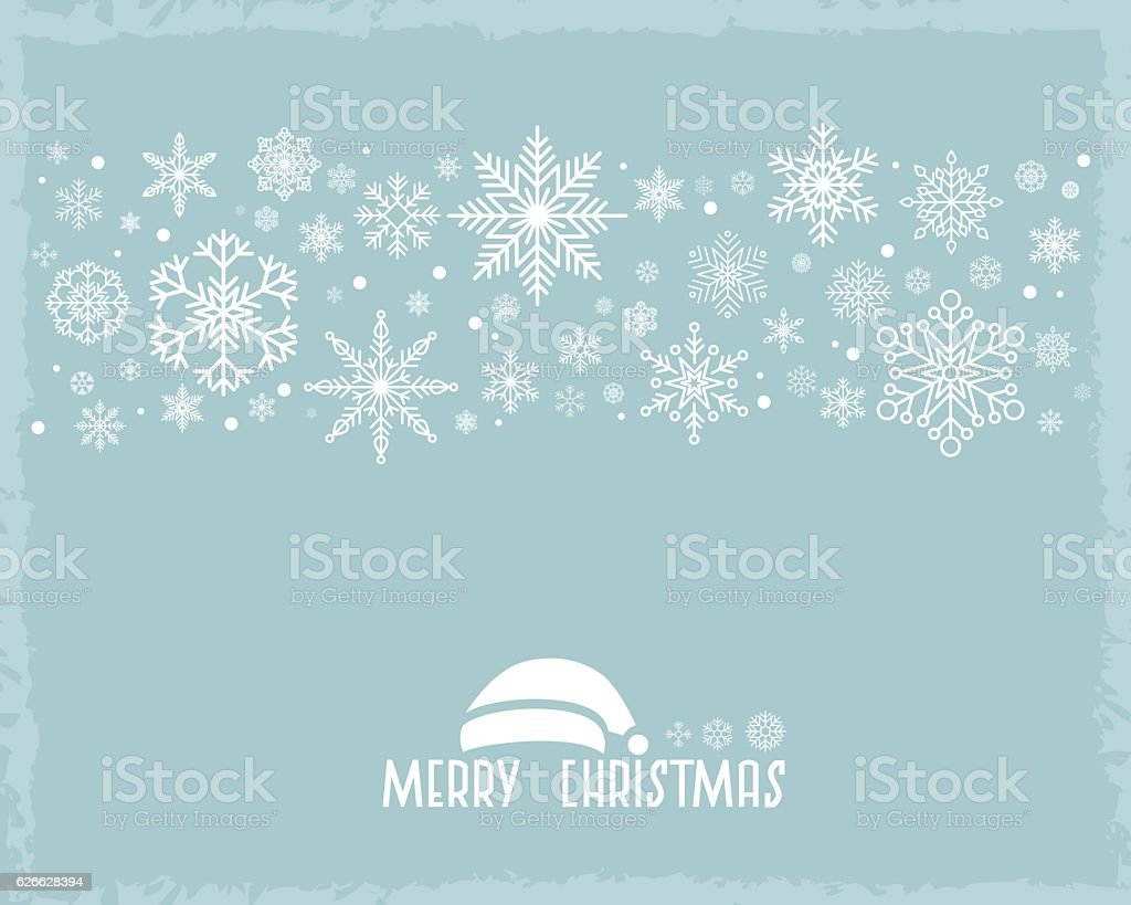 Vintage Christmas  background with snowflake vector art illustration