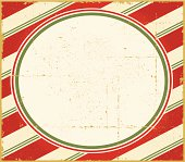 Vintage Christmas Candy Cane Frame