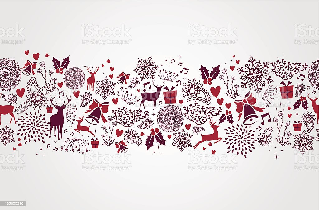 Vintage Christmas elements seamless pattern background. EPS10 file. royalty-free stock vector art