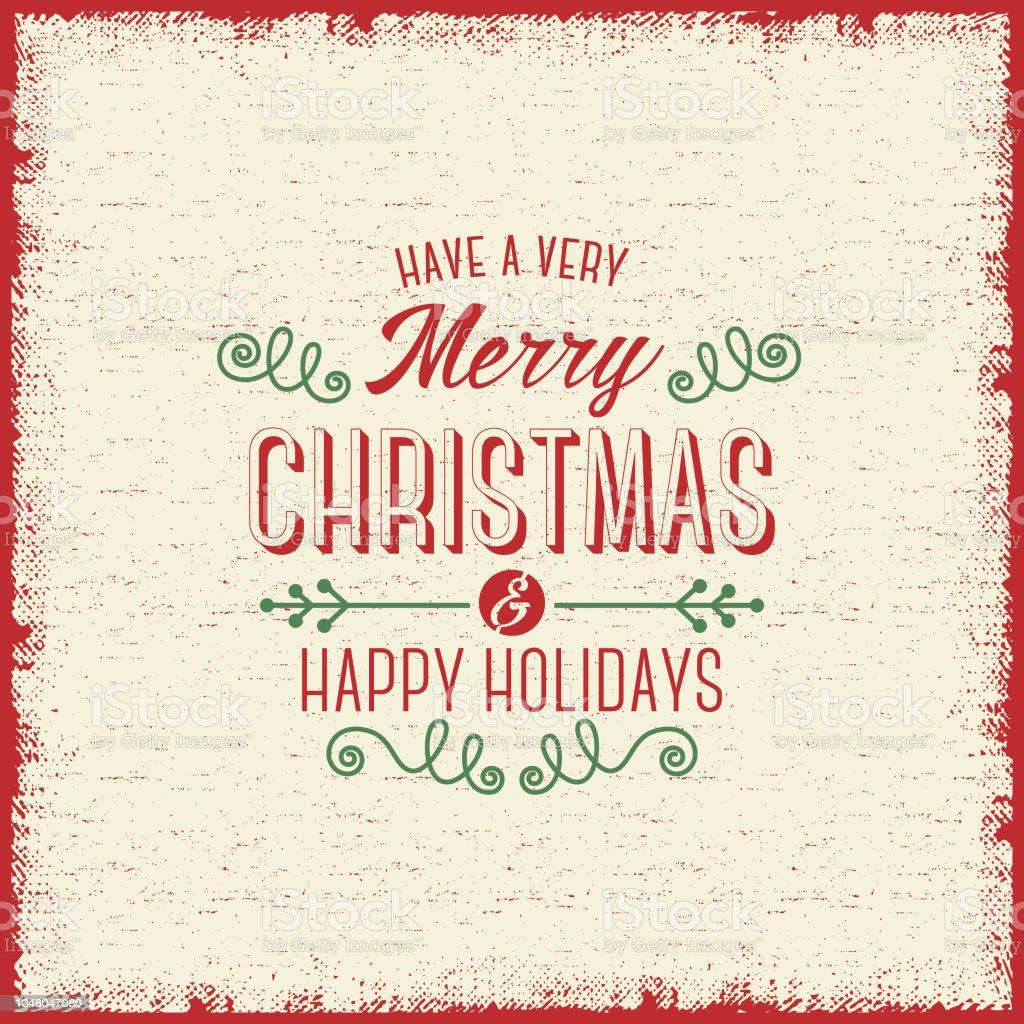 Vintage Bilder Weihnachten.Vintage Weihnachten Grußkarte Stock Vektor Art Und Mehr Bilder Von