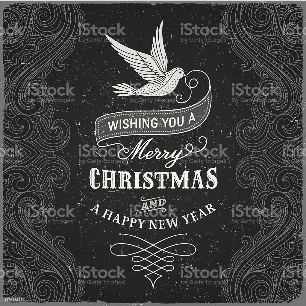 Vintage Christmas Greeting royalty-free vintage christmas greeting stock vector art & more images of backgrounds