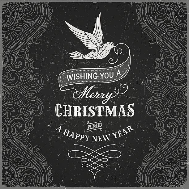 Vintage Christmas Greeting vector art illustration