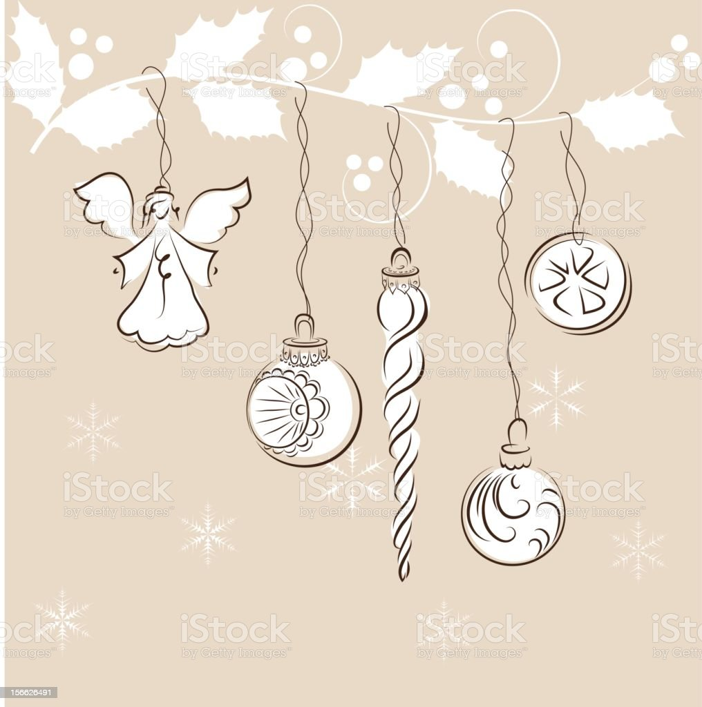Vintage christmas ornament royalty-free stock vector art