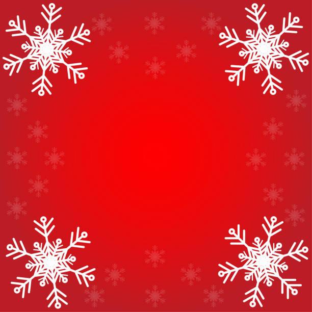 Weihnachts-Postkarte mit Papier Schneeflocken – Vektorgrafik