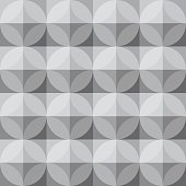Vintage circle and square pattern - Grey Theme