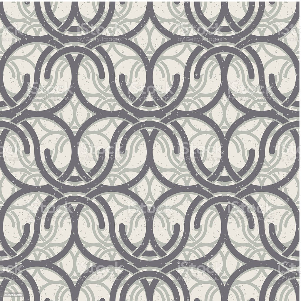 Vintage circles and waves seamless pattern. royalty-free stock vector art