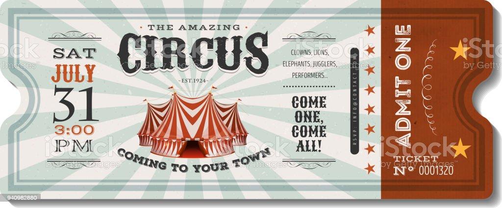 Billet Cirque - Illustration vectorielle