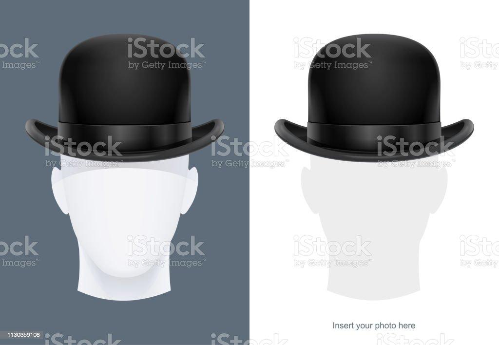 2e59b58aca29a Vintage classic bowler hat. Vector illustration. royalty-free vintage  classic bowler hat vector