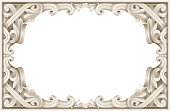 Vintage classic rococo baroque frame. Vector graphics. Luxury frame for painting or postcard cover