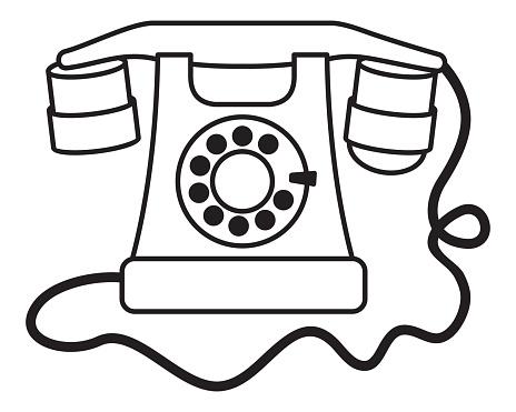 Vintage Classic Telephone Retro Cellphone Handset Stock Illustration