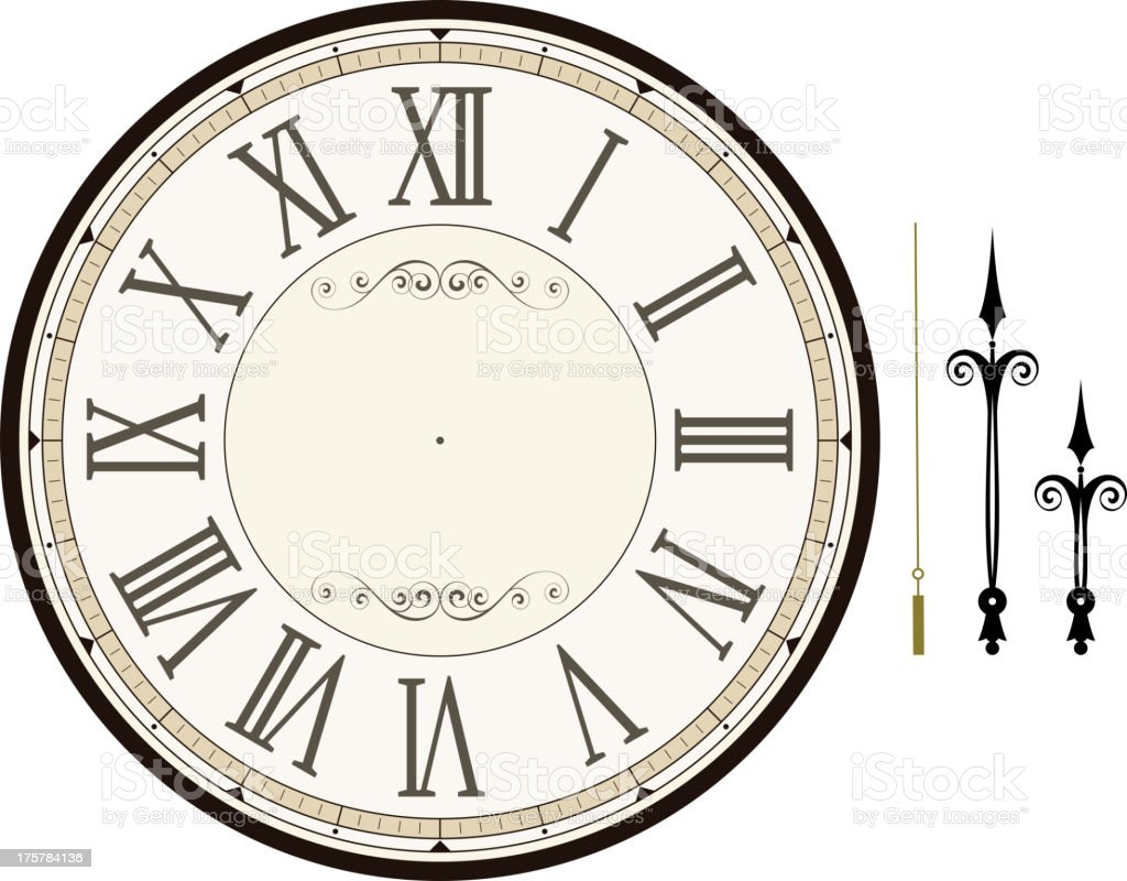 vintage clock face template royalty-free vintage clock face template stock vector art & more images of blank