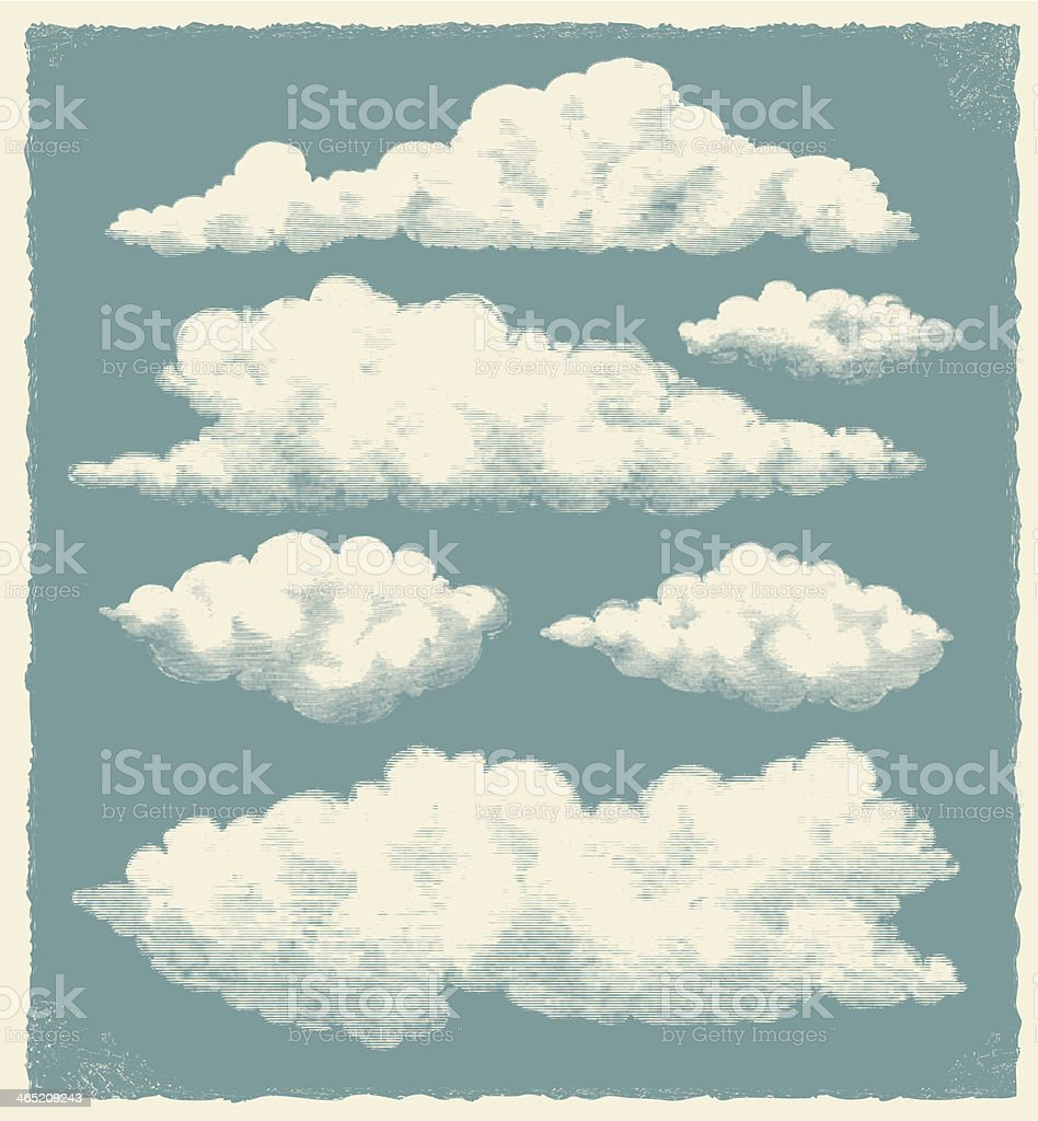Vintage Cloud Background vector art illustration