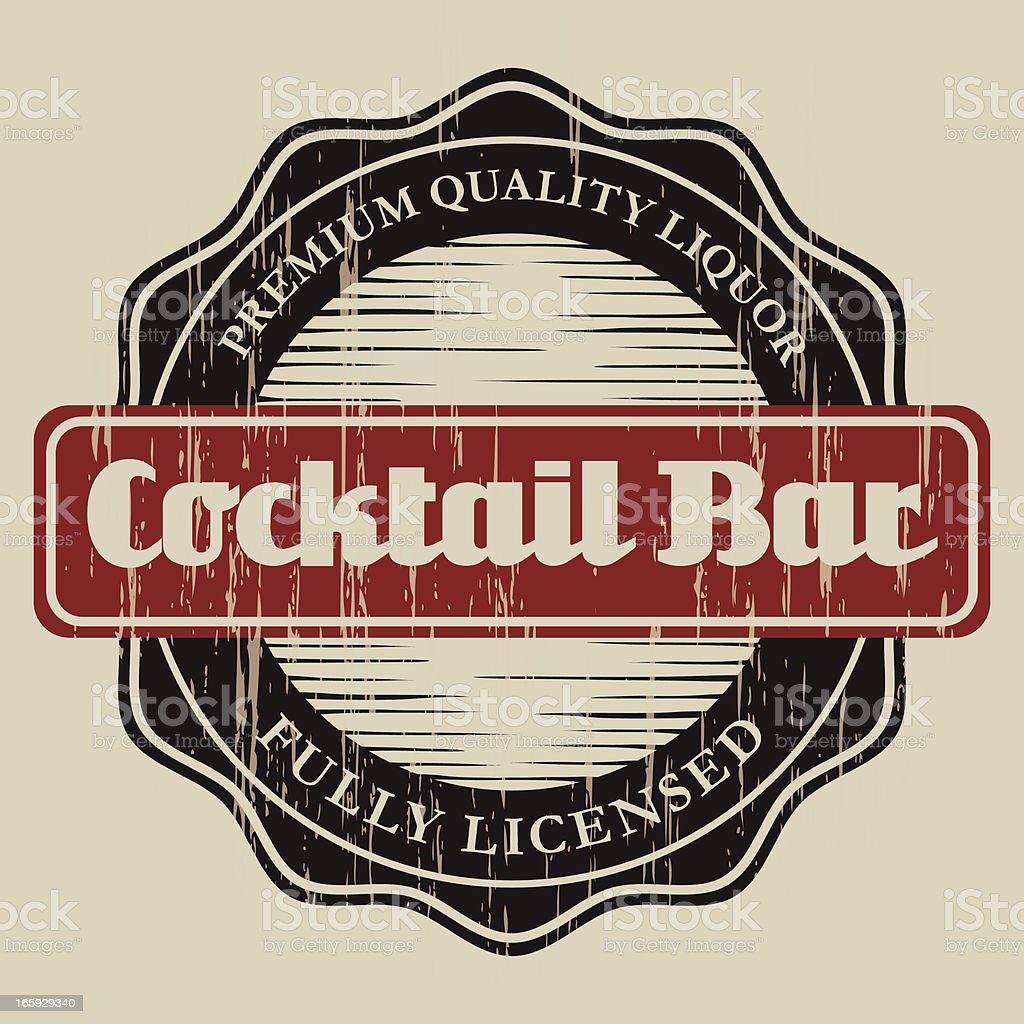 Vintage Cocktail Bar Label royalty-free vintage cocktail bar label stock vector art & more images of alcohol
