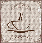 drawn of vector ornate coffee cup symbols.This file has been used illustrator CS3 EPS10 version feature of multiply.