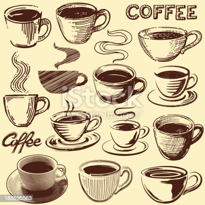 istock Vintage Coffee Cups 165595563
