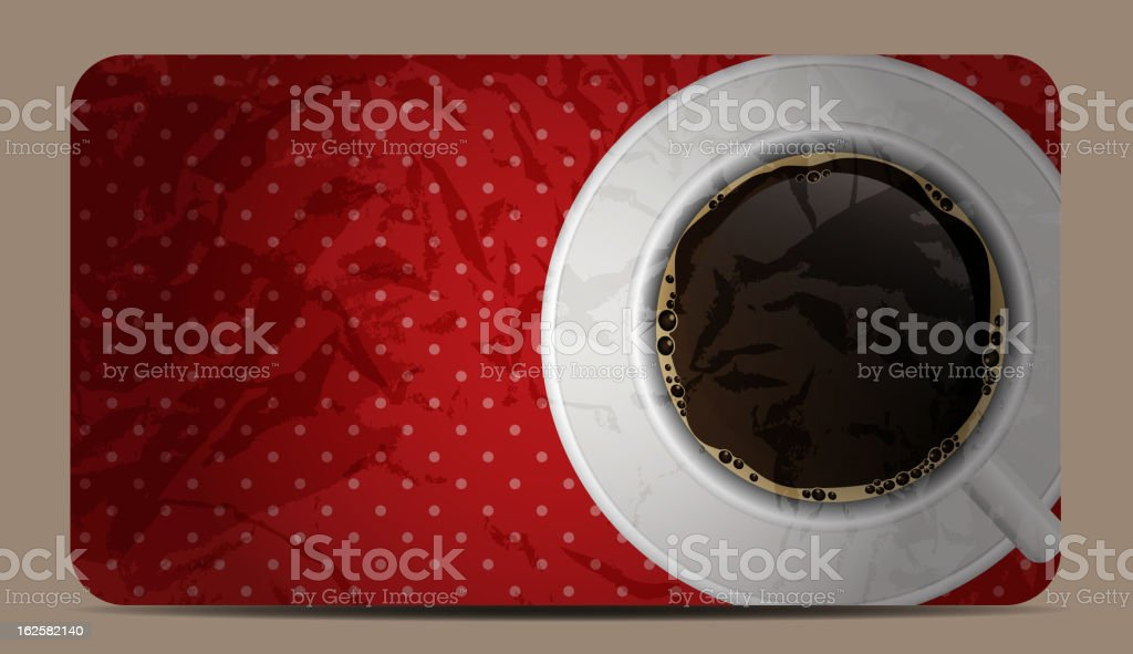 Vintage coffee gift card vector illustration royalty-free vintage coffee gift card vector illustration stock vector art & more images of 1950-1959
