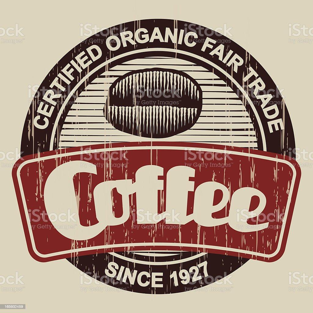 Vintage Coffee Label royalty-free stock vector art