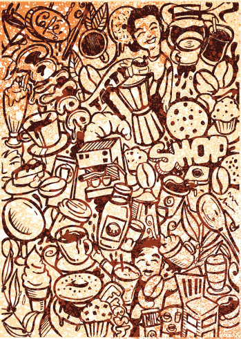 Vintage coffee sketch