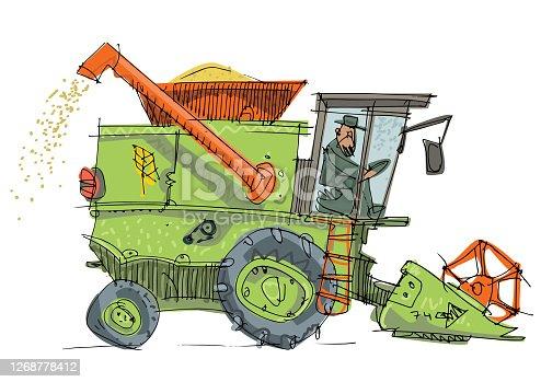 istock A vintage combine harvester 1268778412