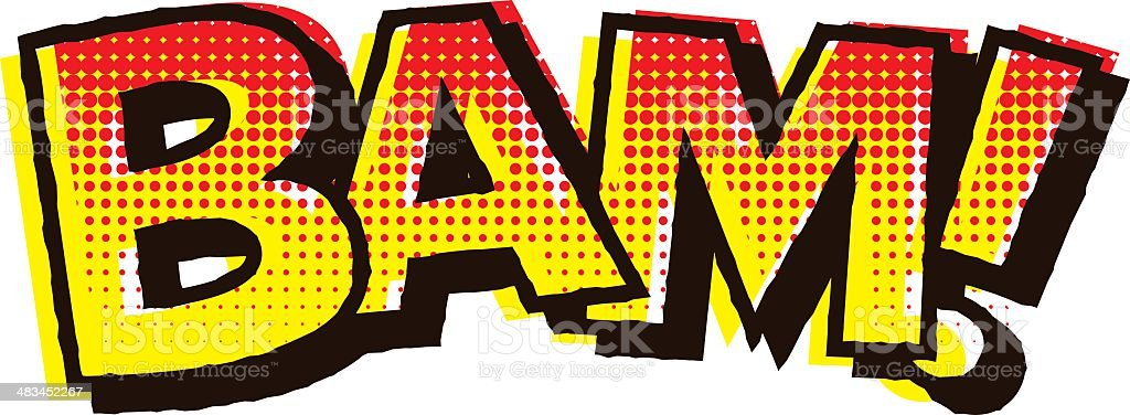 Vintage Comic Book Lettering: BAM! royalty-free stock vector art
