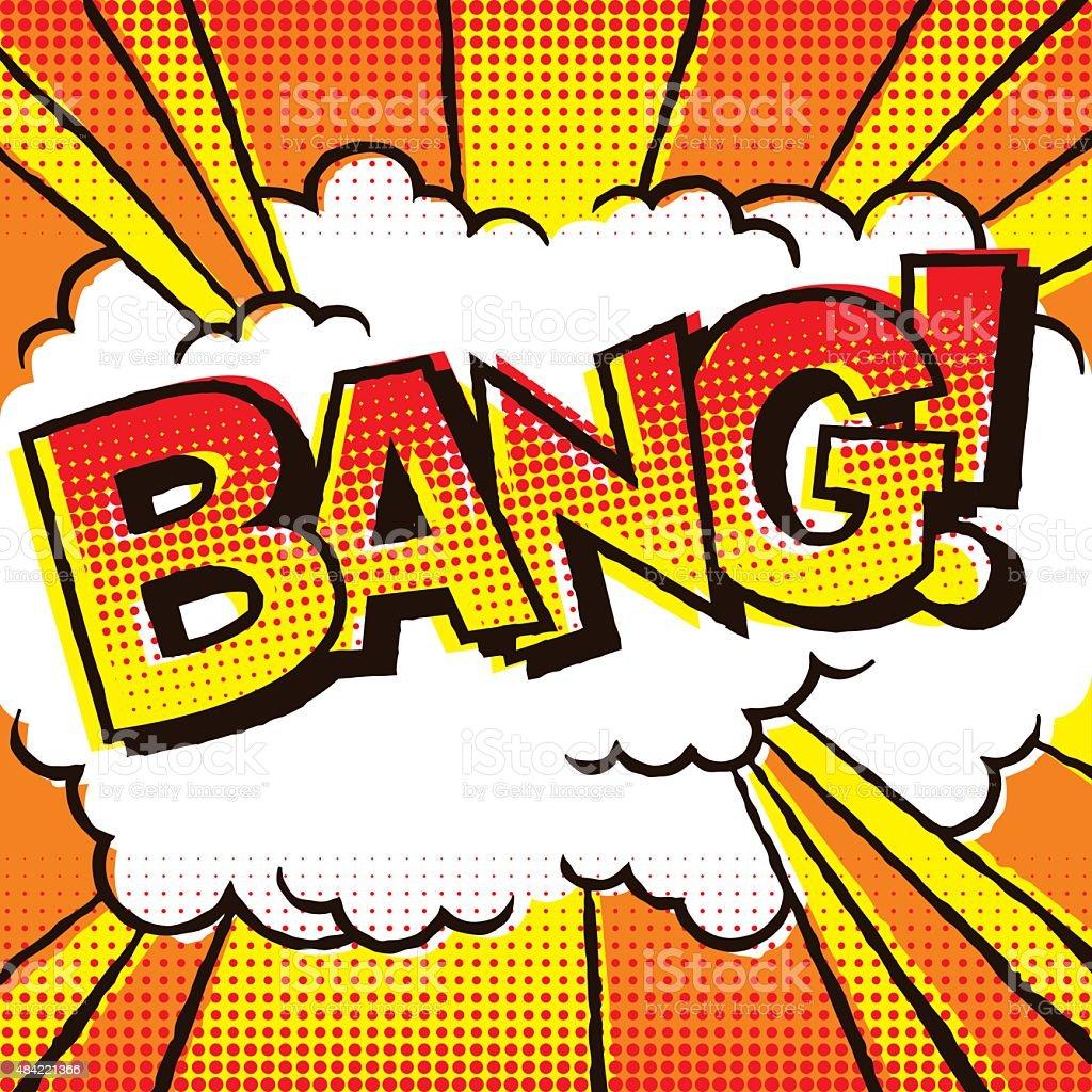 Vintage Comic Book Lettering: Bang! vector art illustration