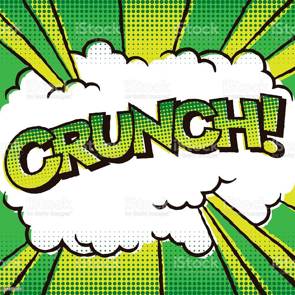 Vintage Comic Book Lettering: Crunch! vector art illustration