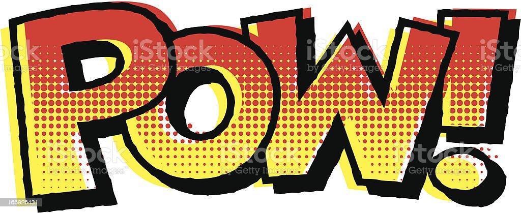 ヴィンテージコミックブックの文字: POW ! ベクターアートイラスト