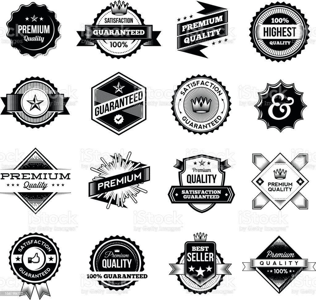 Vintage Commerce Elements - Badges vector art illustration