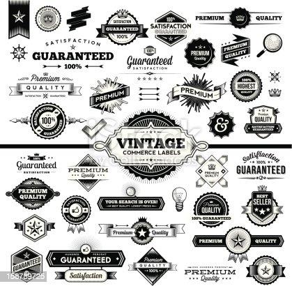 Vintage Commerce Labels - Complete Set