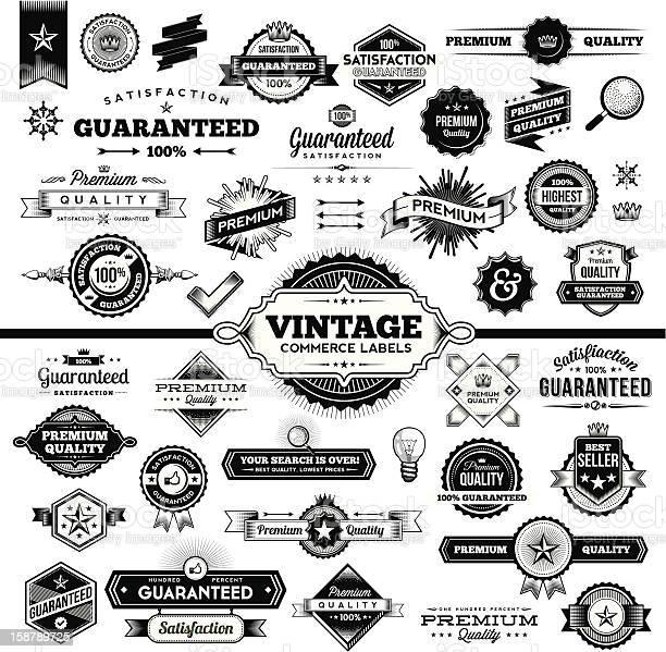 Vintage commerce labels complete set vector id158789725?b=1&k=6&m=158789725&s=612x612&h=xdjcsqcewzqd3okalaplskizusmpepdc8ki05mz803m=