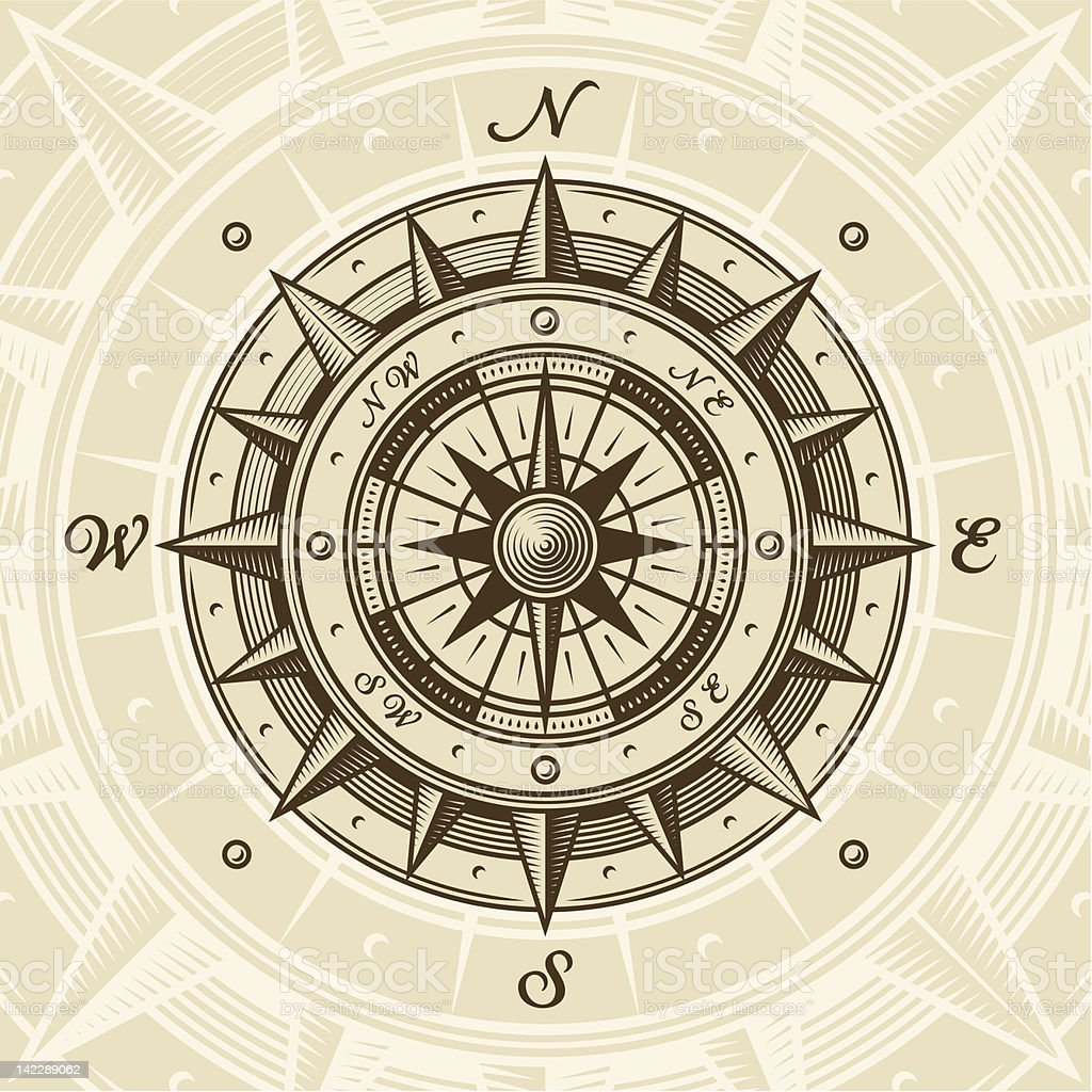 Vintage compass royalty-free stock vector art
