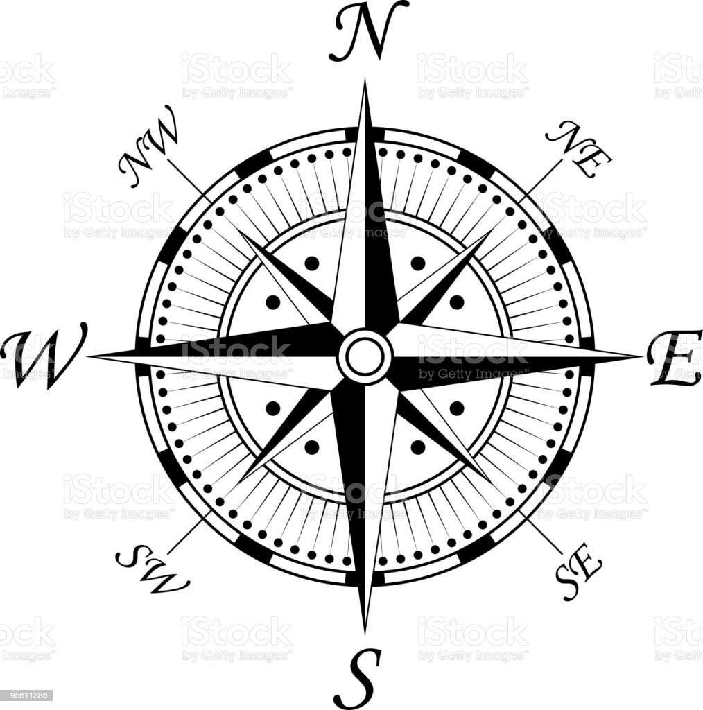 Vintage Compass Royalty Free Stock Vector Art Amp More Images Of Black