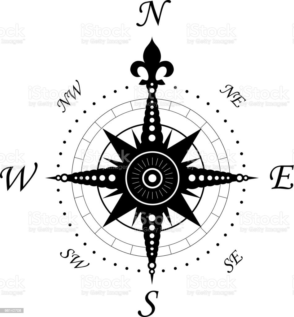 Vintage compass royalty-free vintage compass stock vector art & more images of black color