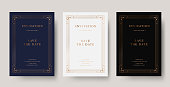Vintage copper luxury vector invitation card