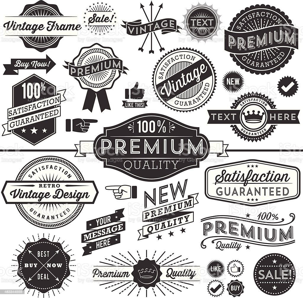Vintage Copyspace Design Elements royalty-free stock vector art